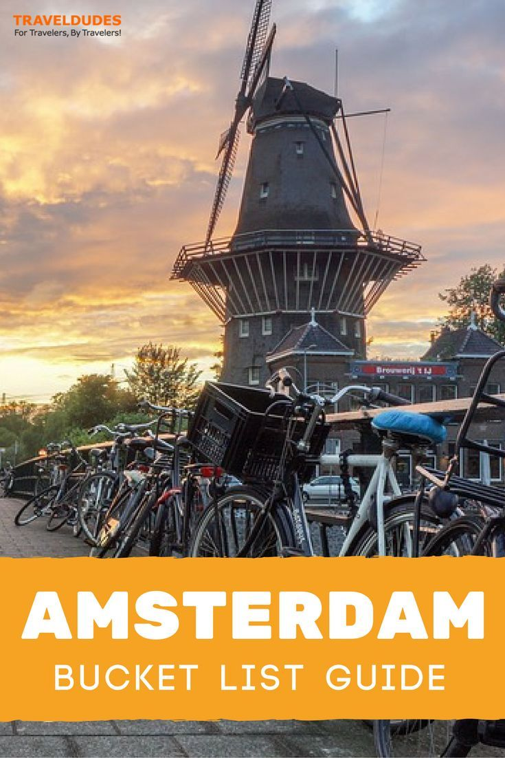 A bucket list guide to exploring Amsterdam. Best things to do and see from the Red Light District to the Anne Frank House. Travel in the Netherlands. | Blog by Travel Dudes: Community for Travelers, by Travelers!