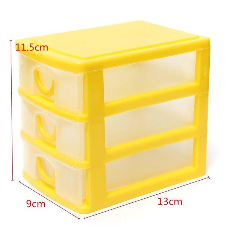 Современный дизайн рабочего пластмассовый ящик с три ящика организатор шкафы , пригодный для офиса дома купить на AliExpress