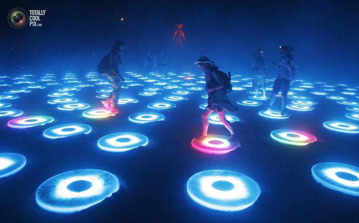 Light Dance floor Burning man 2014