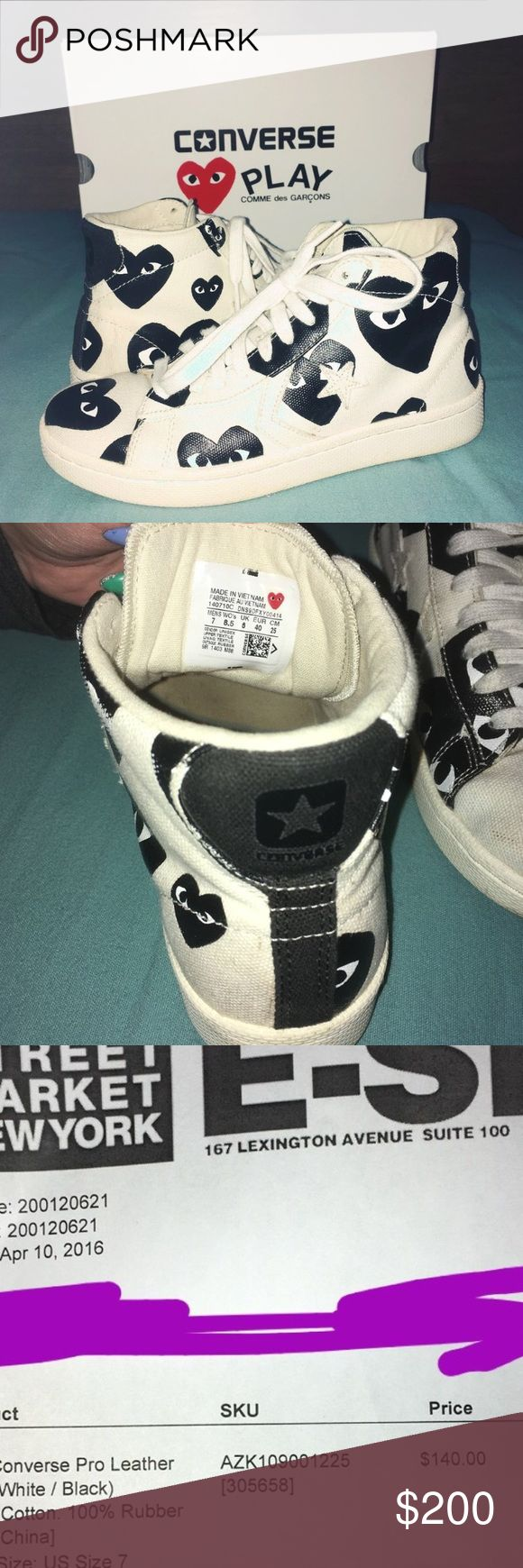 Comme des Garcon shoes still in good condition worn a couple times,no wear and tear no scuff marks,comes with box and receipt. Comme des Garcons Shoes Sneakers