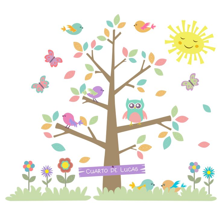 36 best images about murales infantiles en pinterest for Pegatinas pared arbol infantil