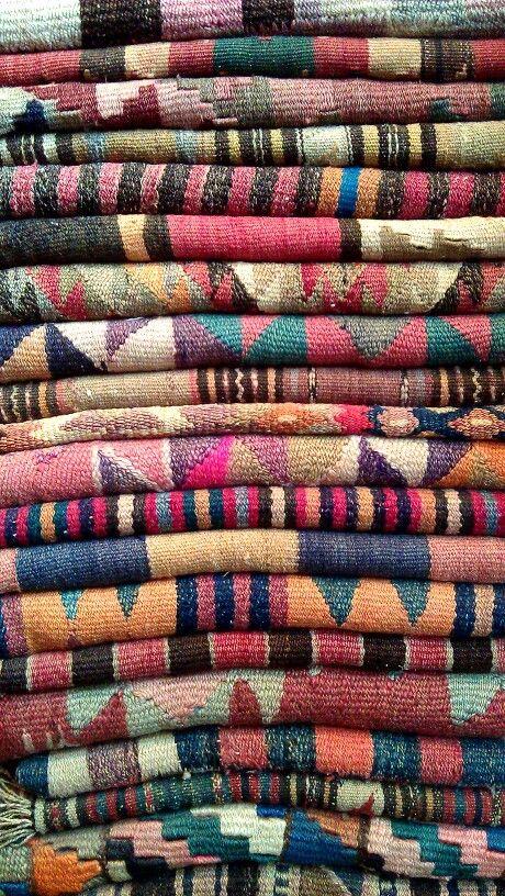 Pile of lovely arabic carpets