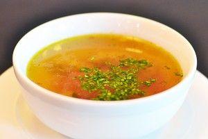 Supa cu galuste din ficat de pui
