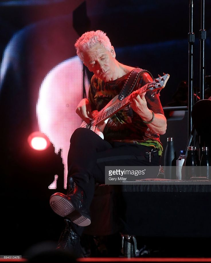 Adam Clayton performs in concert with U2 during day 2 of the Bonnaroo Music & Arts Festival on June 9, 2017 in Manchester, Tennessee.