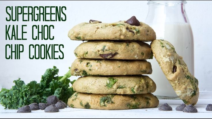 KALE SUPERFOOD CHOCOLATE CHIP COOKIES RECIPE   | VEGAN + OIL FREE + HCLF