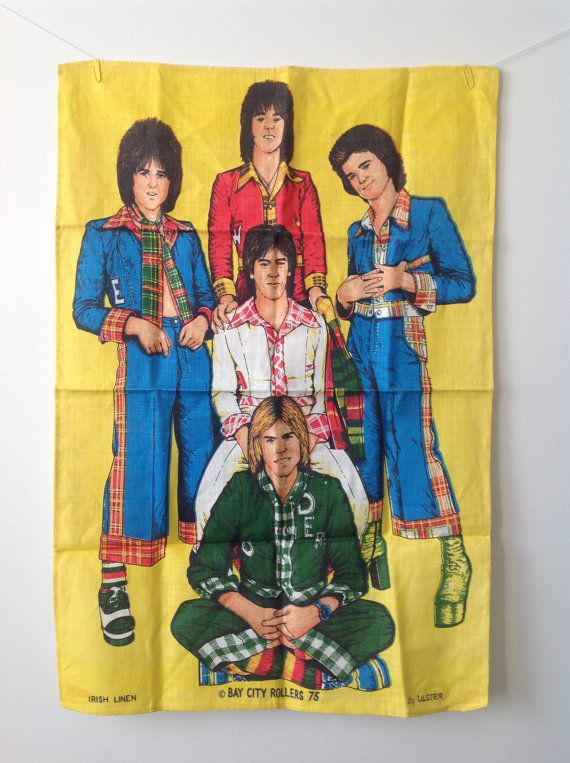 Bay City Rollers // Irish Linen // By by VintageLoopSupplies