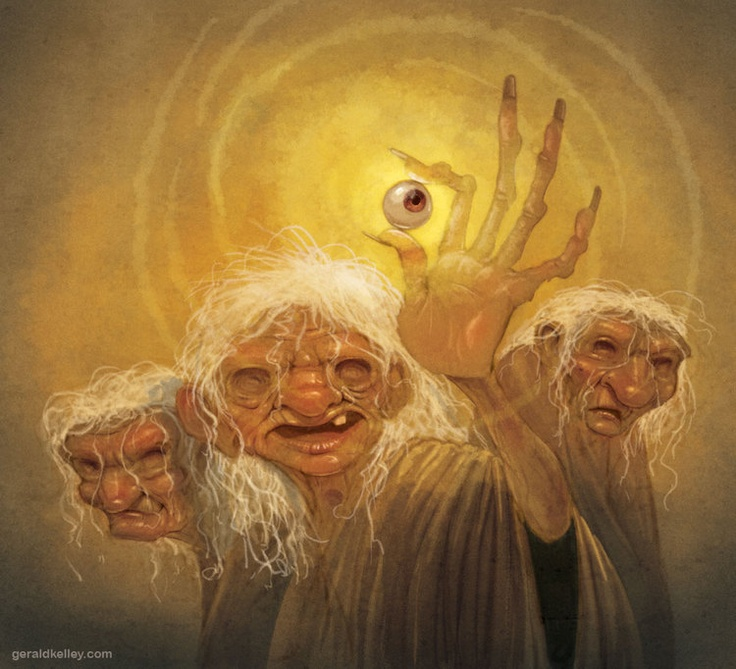The Graeae. Gorgon sisters to Medusa.