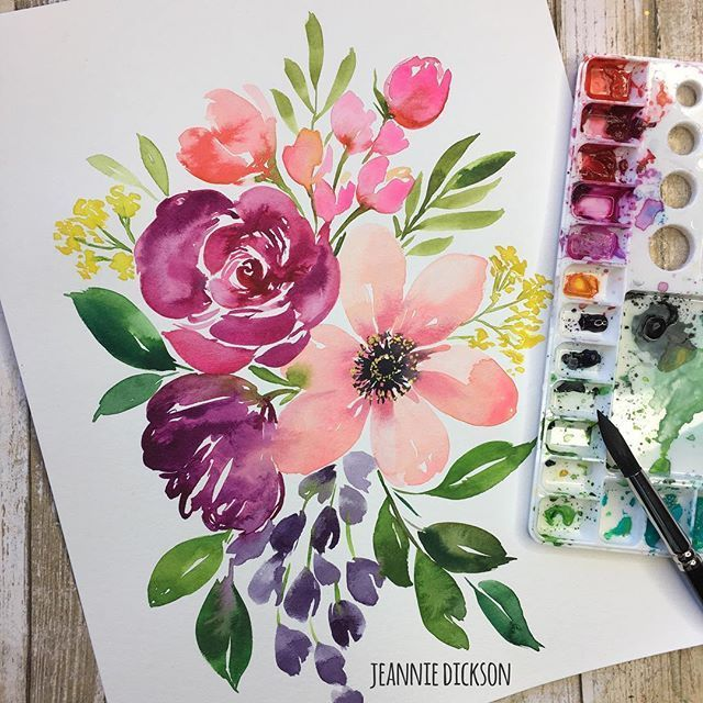 Watercolor Flowers Flower Drawing Flower Painting