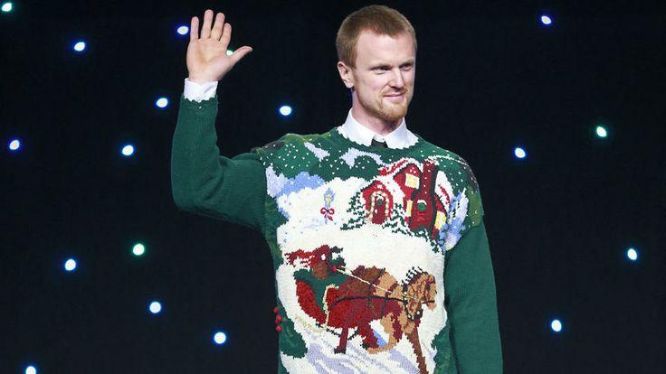 Henrik Sedin. Christmas sweater.