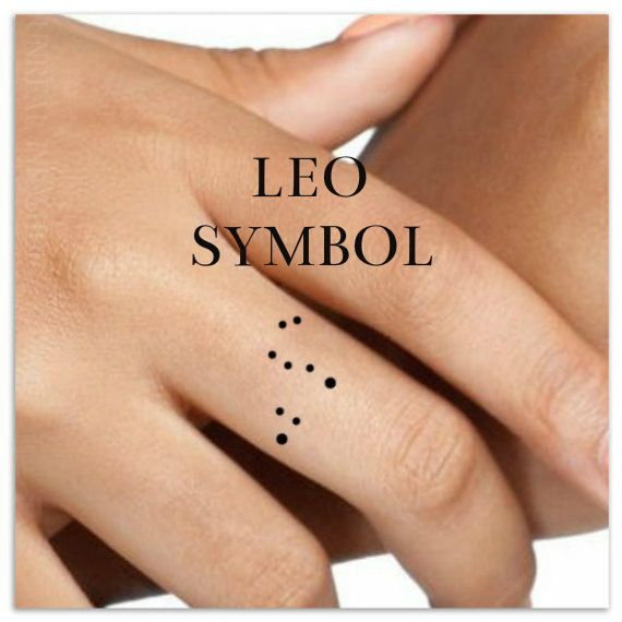 Leo Temporary Tattoo 2 Small Finger Tattoos by UnrealInkShop