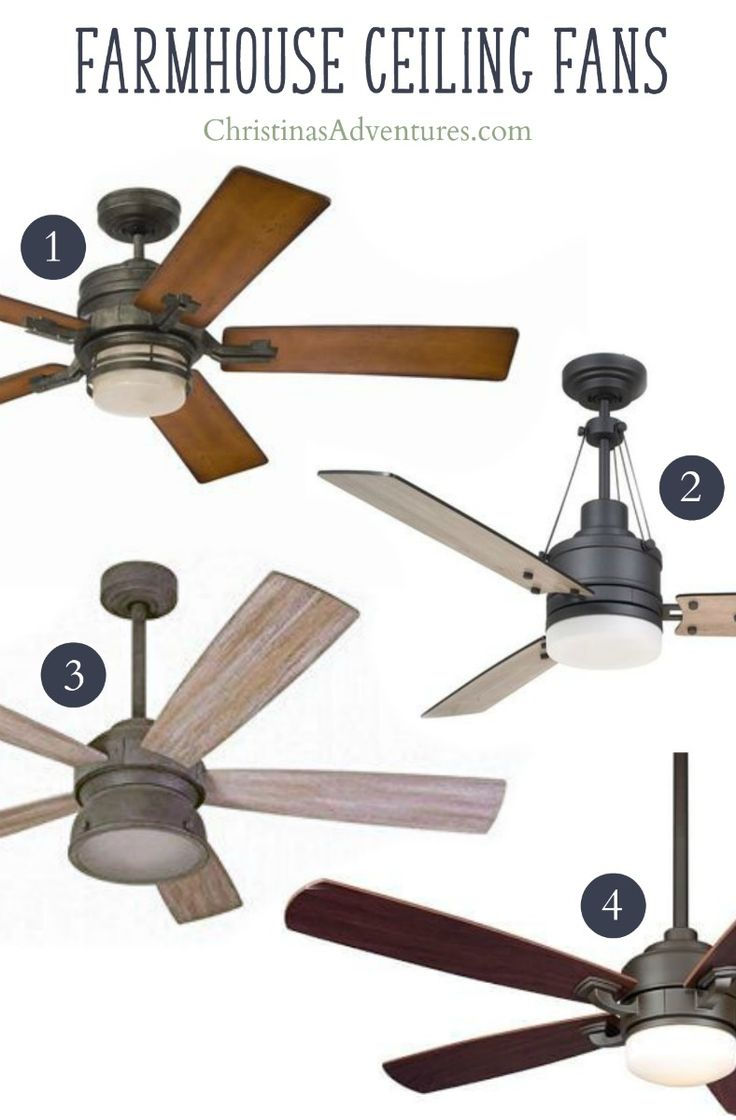 Best places to buy farmhouse ceiling fans - love these with wood blades and one light