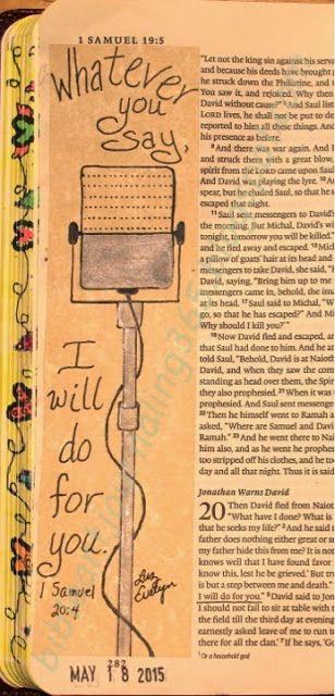 1 Samuel 20:4 Easy Bible Art Journaling Journey: 1 Samuel 20:4 (May 18th)