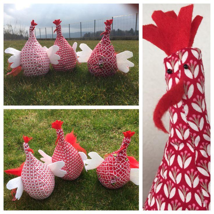 Die Hühner sind los! Idee und Material von # Stoffsache.ch (erhältlich als komplettes Päckchen)