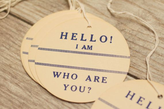 Vintage Hang Tags Hello String Tags Paper Gift by VintageInkPrints