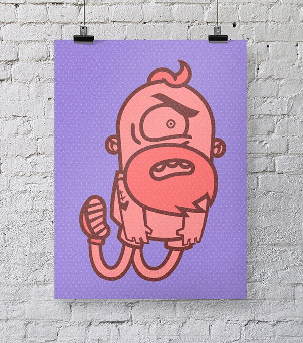 Beard Guy on Behance #hipster #beard #grumpy