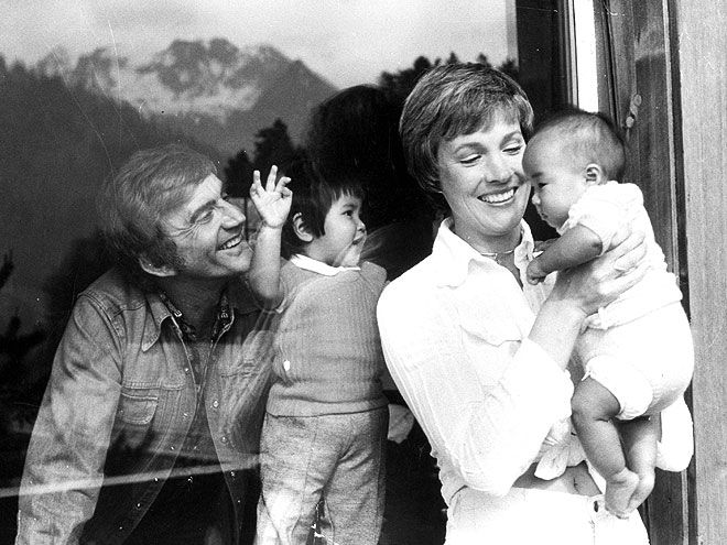 "JULIE ANDREWS  ""We wanted a child and weren't being successful,"" Andrews told PEOPLE in 1977 of adopting two Vietnamese orphans, Amy Leigh and Joanna Lynne (now in their 30s), with husband Blake Edwards. ""It's been wonderful to watch two pale, sad-eyed creatures blossom."" Now she's a grandmother to seven, saying, it's been ""wonderful because you get all the fun and you get to spoil as much as you like."""