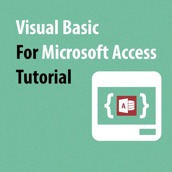 how to open visual basic access