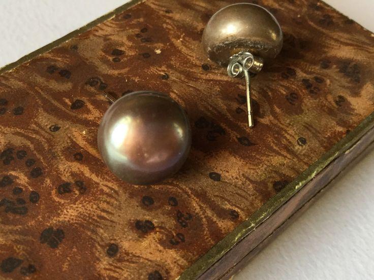 Edwardian silver sterling pearl earrings, Antique jewels, vintage earrings - Orecchini Edoardiani argento e perle, gioielli antichi di Quieora su Etsy