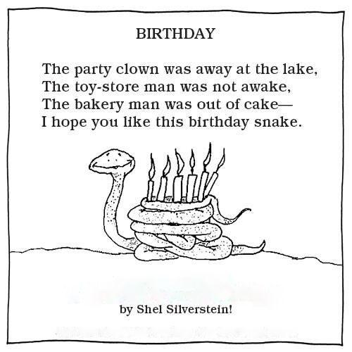 Happy Birthday Snake - Shel Silverstein
