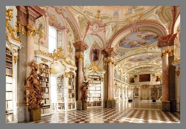 Abbey Library in Admont, Austria