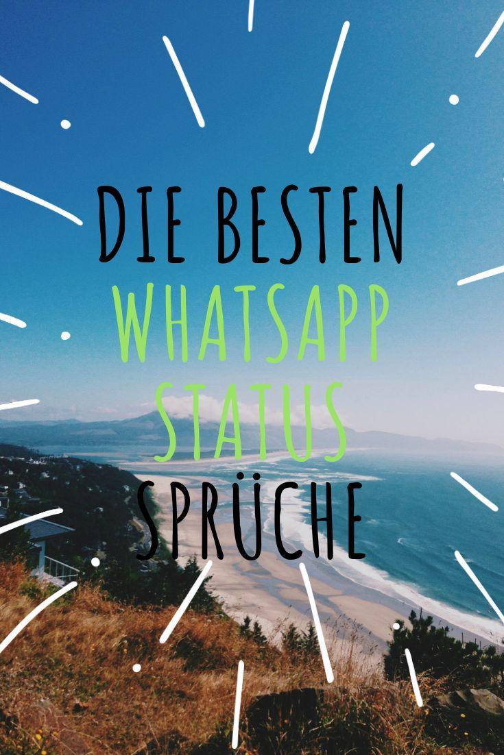 WhatsApp Status Sprüche | Whatsapp status sprüche, Gute