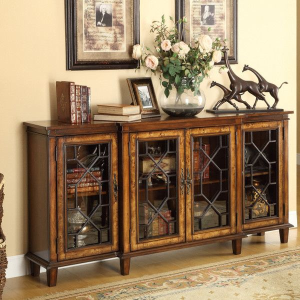 Captivating Cresthill Brown Credenza Part 22