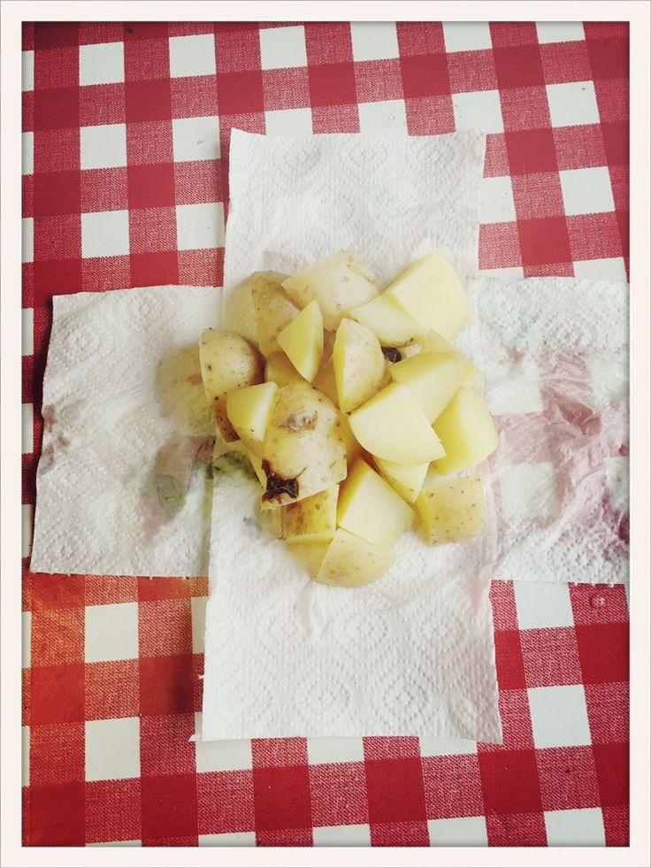 Kartoffelwickel bei Reizhusten, einfach zu machen, Hausmittel bei Reizhusten