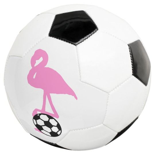 Pink Flamingo with Soccer Ball