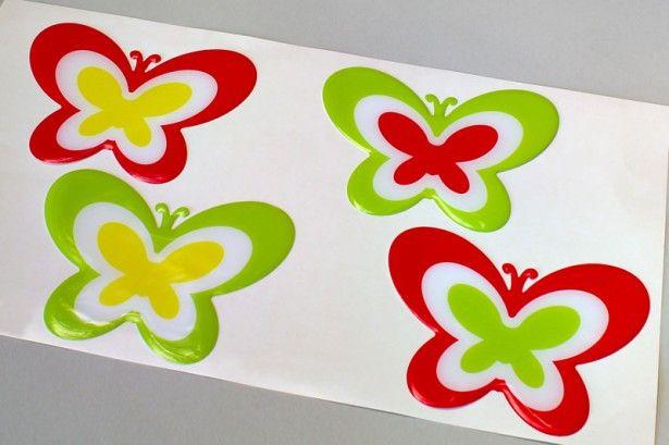 Stickere cu rășină - formă fluturi