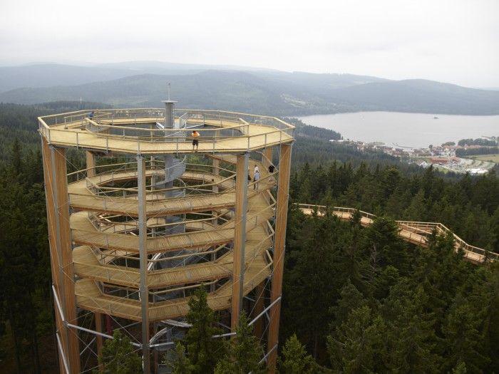 Stezka korunami stromů, Lipno - Pathway in treetops with slide!