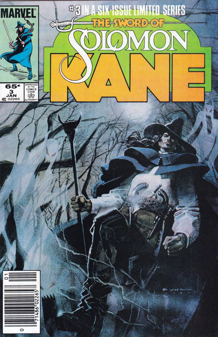 The Sword Of Solomon Kane No3 (1986)  Cover By Bill Sienkiewicz