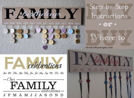 How to make your own Family Birthdays or Celebrations Wall Hanging Plaque with the attached dates. | Easy DIY and budget friendly | Repurpose, recycle and upstyle your home