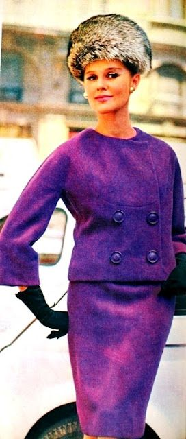 Purple suit of the Italian Fashion House Forquet, 1963