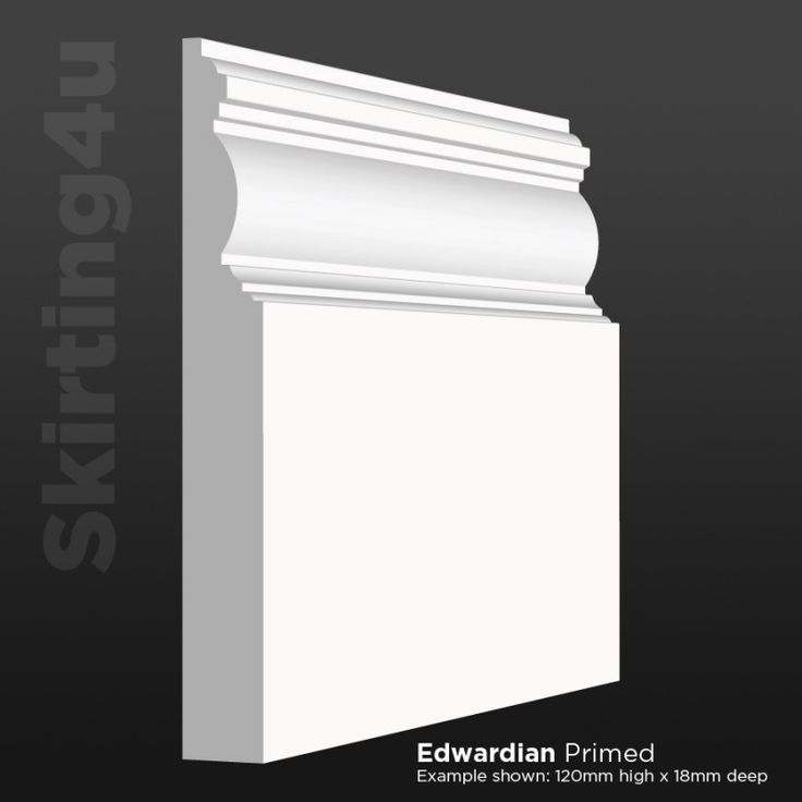 Edge Groove MDF Skirting Board