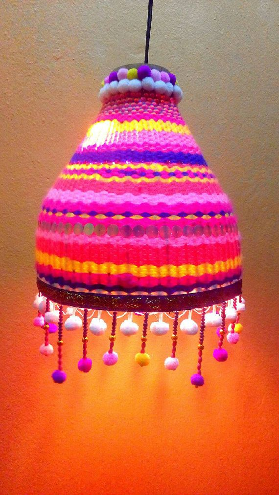 Check out this item in my Etsy shop https://www.etsy.com/listing/267556516/hill-tribe-cotton-yarn-lamp
