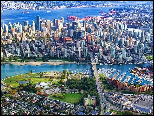 Vanier Park and downtown Vancouver