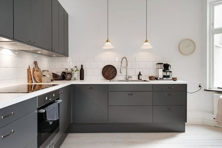 Graphite gray kitchen