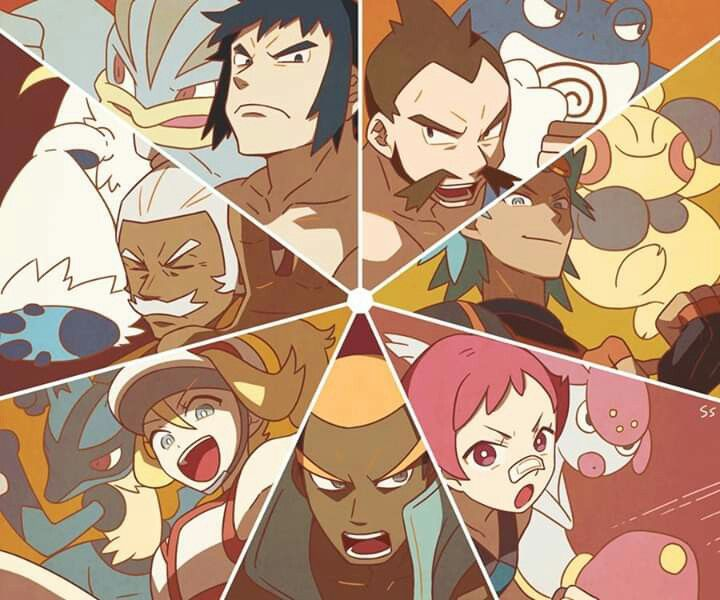 Fighting Type Gym Leaders And Trainers