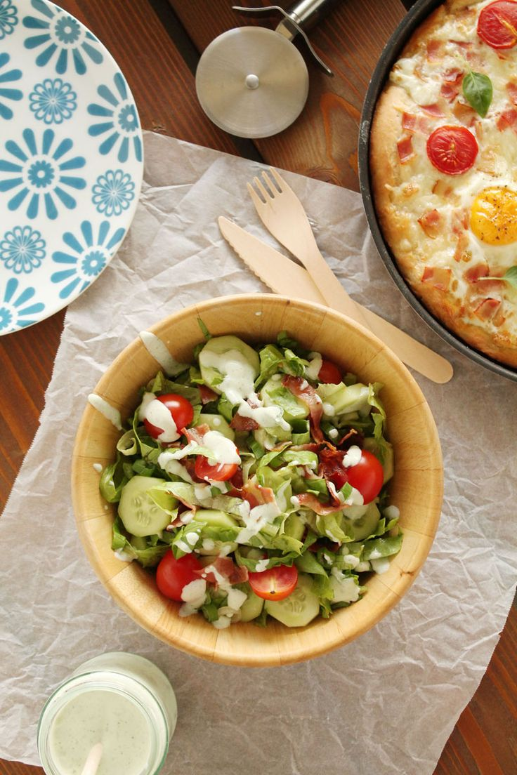 Blt salad, Egg pizza and Bacon egg on Pinterest
