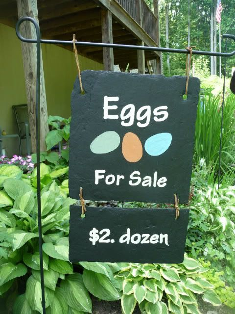 Eggs for sale sign - This is cute too!