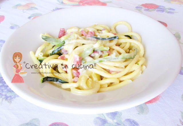 Bucatini cremosi all'ortolana. Leggete la ricetta su >> http://creativaincucina.blogspot.it/2015/10/bucatini-cremosi-allortolana.html Bucatini creamy all'ortolana. Read the recipe on >> http://creativaincucina.blogspot.it/2015/10/bucatini-cremosi-allortolana.html