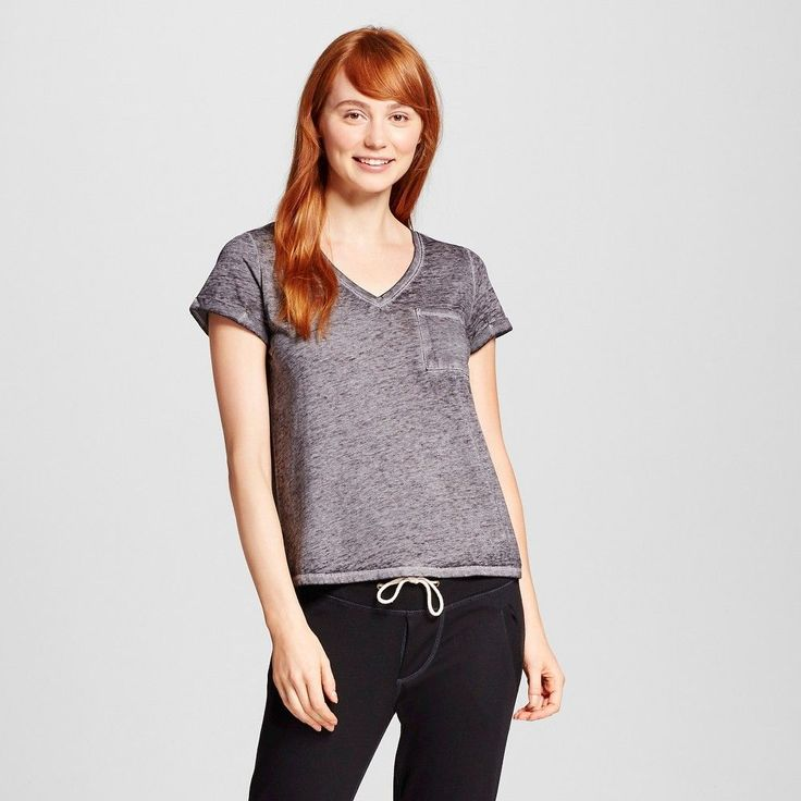 Women's Burnout Tee Black XS - Xhilaration