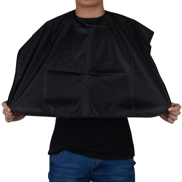 New Arrival Short Salon Hairdressing Apron Wrap Black  Hair Cutting Gown Cape For Barber Hair Styling Cloth