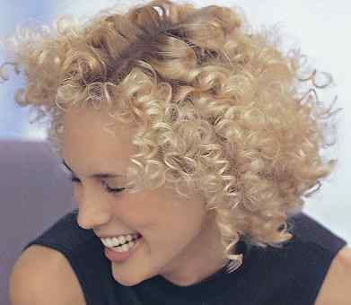 Short Curly Hair Cuts Short Light Blonde Extremely Curly