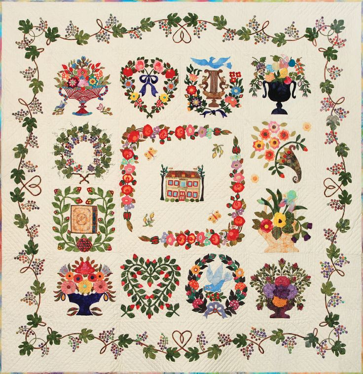 """Baltimore Album Quilt"" by KS Jang 165cm*165cm"
