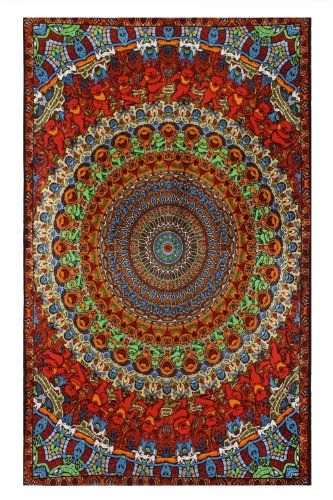 Grateful Dead Psychedelic Bear Tapestry 60x90 - Hanging Wall Art - Great for Apartments, Dorms, Homes, and Office $31.00