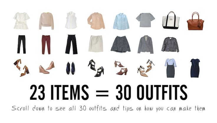 How to Make a 30-Day Work Capsule Wardrobe via @stylebookapp