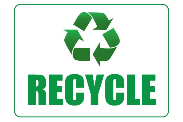Printable Recycle Sign PDF File Free Download Signs