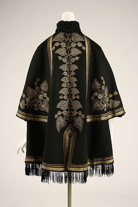 Date:     1863–67 Culture:     European, Eastern Medium:     wool, silk, metallic thread, fur Dimensions:     Length at CB: 35 in. (88.9 cm) Credit Line:     Gift of Virginia S. Mayor, 1976