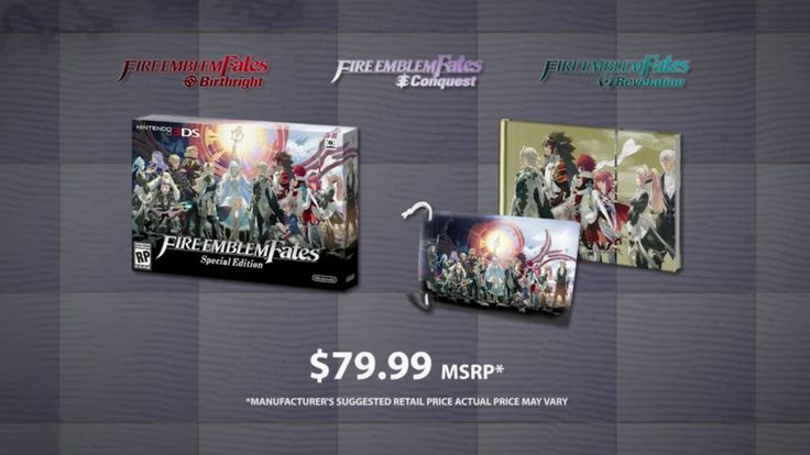 Fire emblem fates, conquest, birthright, 3ds, direct